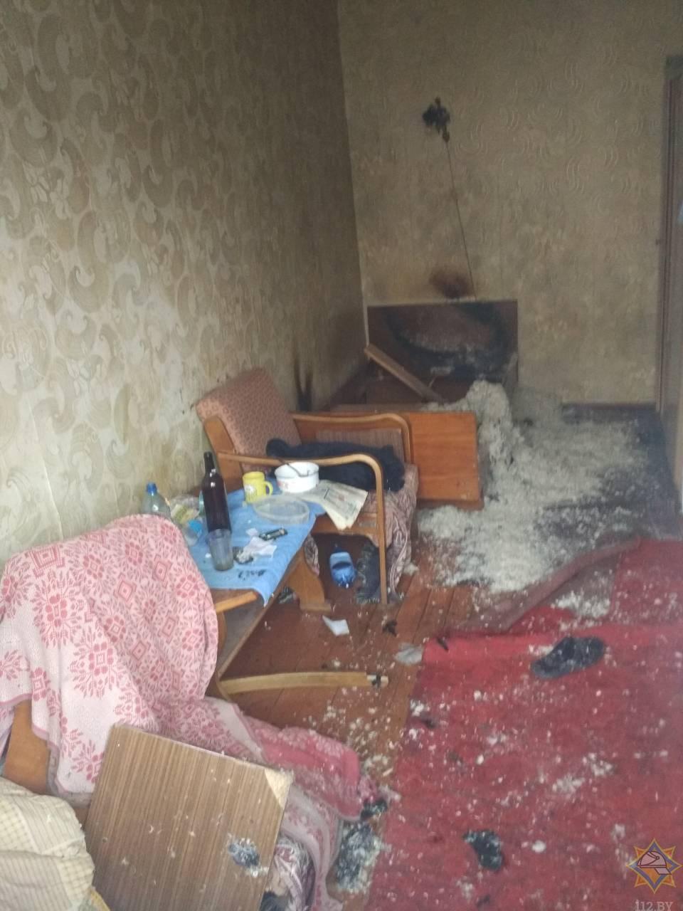 На пожаре в Иваново работники МЧС спасли мужчину и эвакуировали 5 человек