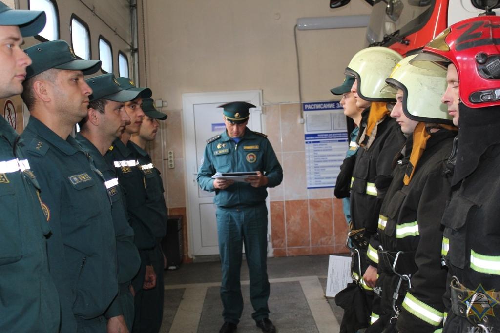 Замминистра по чрезвычайным ситуациям посетил Борисов 1