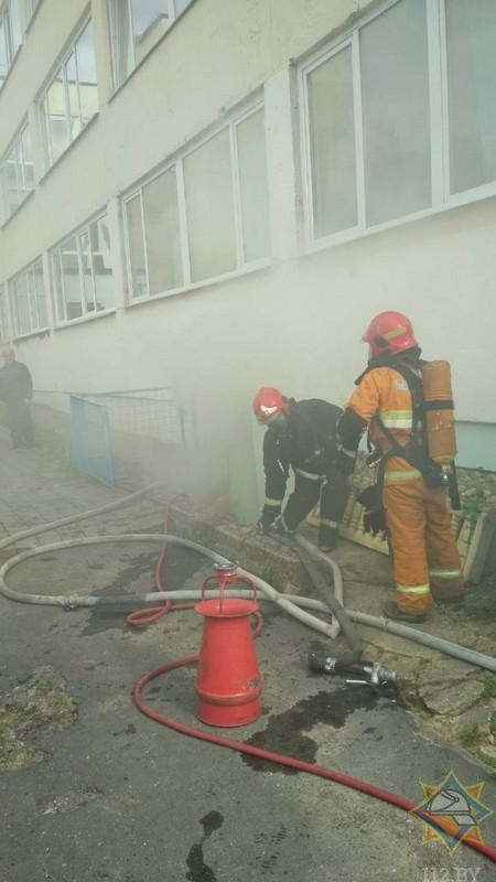 Вчера в гимназии Фаниполя произошло возгорание в подвале