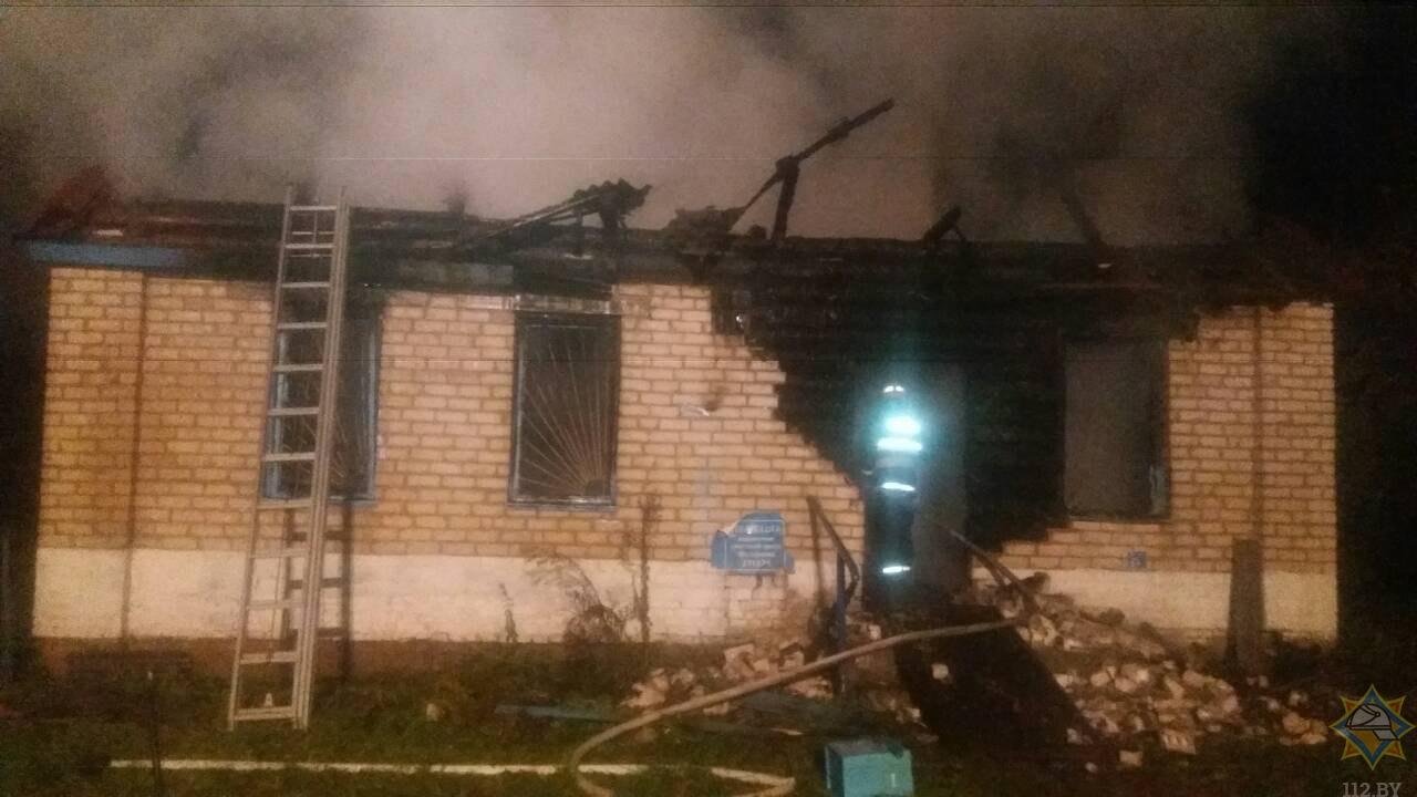 Пожар в здании почты аг. Михалиново ликвидировали спасатели