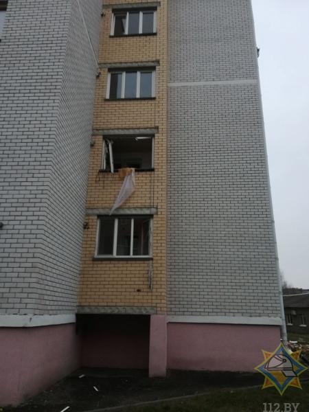 В Дрогичине произошел взрыв газовоздушной смеси в многоквартирном доме